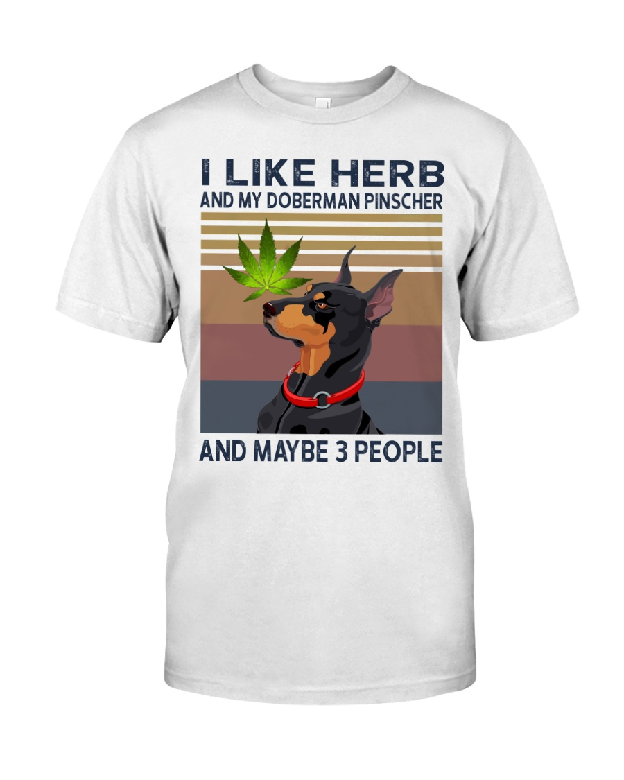Herb and Doberman Pinscher Classic T-Shirt