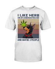 Herb and Doberman Pinscher Classic T-Shirt front