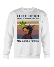 Herb and Doberman Pinscher Crewneck Sweatshirt thumbnail