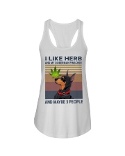 Herb and Doberman Pinscher Ladies Flowy Tank thumbnail
