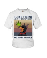 Herb and Doberman Pinscher Youth T-Shirt thumbnail
