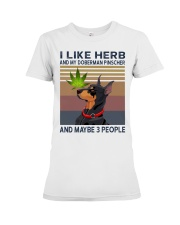 Herb and Doberman Pinscher Premium Fit Ladies Tee thumbnail