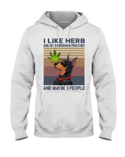 Herb and Doberman Pinscher Hooded Sweatshirt thumbnail