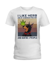 Herb and Doberman Pinscher Ladies T-Shirt thumbnail