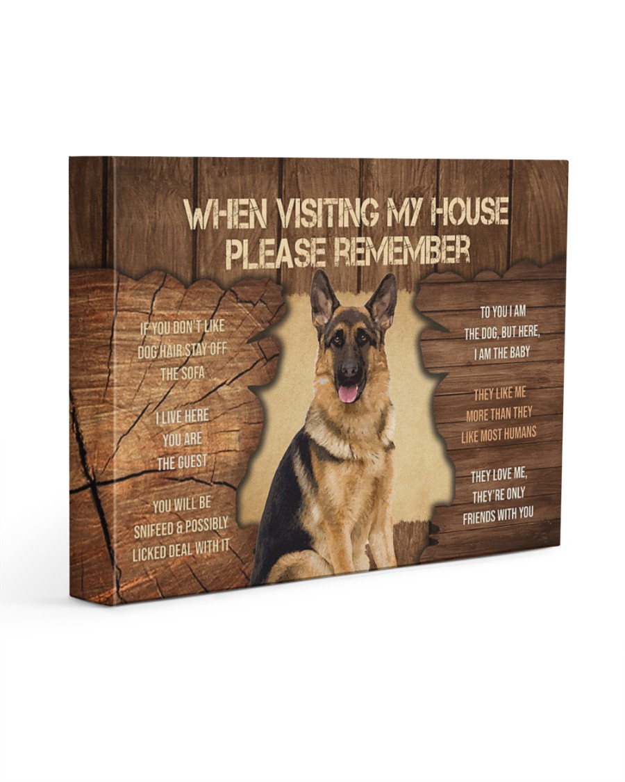 Visit home German Shepherd 14x11 Gallery Wrapped Canvas Prints