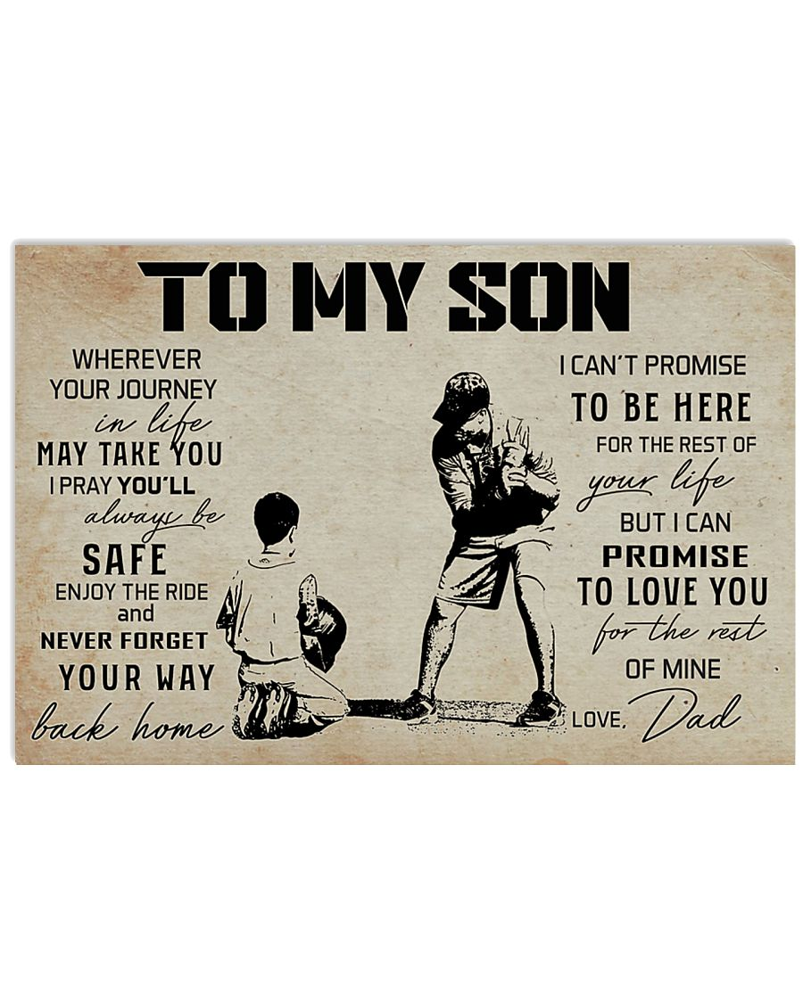 15 BASEBALL TO MY SON 17x11 Poster