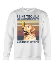 Tequila and Labrador Retriever Crewneck Sweatshirt thumbnail