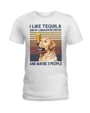 Tequila and Labrador Retriever Ladies T-Shirt thumbnail