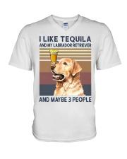 Tequila and Labrador Retriever V-Neck T-Shirt thumbnail