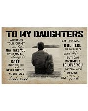 FISHING TO MY DAUGHTERS 17x11 Poster front
