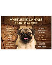 Visit home pug 17x11 Poster thumbnail