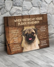 Visit home pug 14x11 Gallery Wrapped Canvas Prints aos-canvas-pgw-14x11-lifestyle-front-13