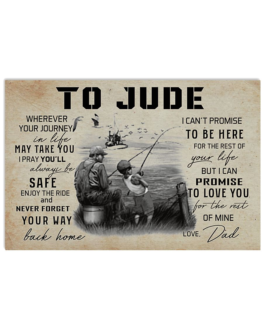 TO JUDE FISHING 17x11 Poster