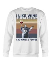 Wine and Chihuahua Crewneck Sweatshirt thumbnail