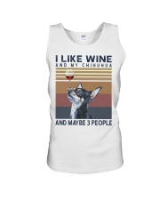 Wine and Chihuahua Unisex Tank thumbnail