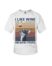 Wine and Chihuahua Youth T-Shirt thumbnail