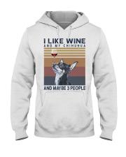 Wine and Chihuahua Hooded Sweatshirt thumbnail