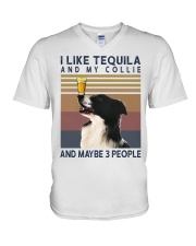 Tequila and Collie V-Neck T-Shirt thumbnail