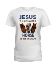 HORSE is my therapy Ladies T-Shirt thumbnail