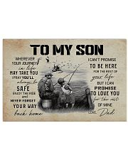 TO MY SON WHEREVER YOUR JOURNEY - FISHING 17x11 Poster front