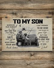 TO MY SON WHEREVER YOUR JOURNEY - FISHING 17x11 Poster poster-landscape-17x11-lifestyle-14