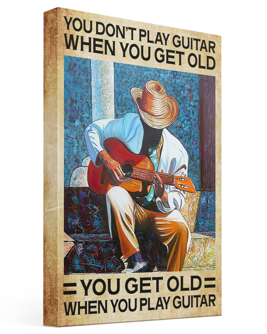 GUITAR - DON'T GET OLD 16x24 Gallery Wrapped Canvas Prints