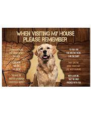 Visit home Golden Retriever 17x11 Poster thumbnail