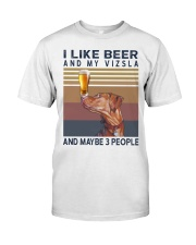 Beer and Vizsla Classic T-Shirt front