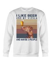 Beer and Vizsla Crewneck Sweatshirt thumbnail
