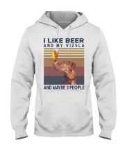 Beer and Vizsla Hooded Sweatshirt thumbnail