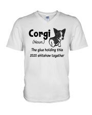 corgi 2020 V-Neck T-Shirt thumbnail
