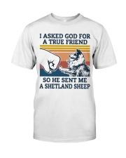 true friend a Shetland Sheep Classic T-Shirt thumbnail