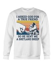 true friend a Shetland Sheep Crewneck Sweatshirt thumbnail