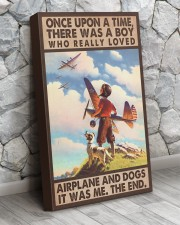 Once upon a time - Pilot and Dogs 16x24 Gallery Wrapped Canvas Prints aos-canvas-pgw-16x24-lifestyle-front-07