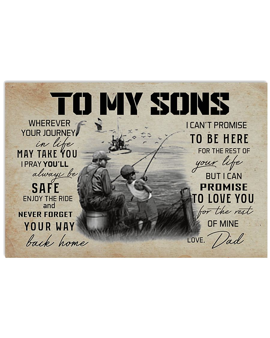 FISHING - TO MY SONS 17x11 Poster