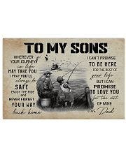 FISHING - TO MY SONS 17x11 Poster front
