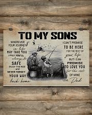 FISHING - TO MY SONS 17x11 Poster poster-landscape-17x11-lifestyle-14