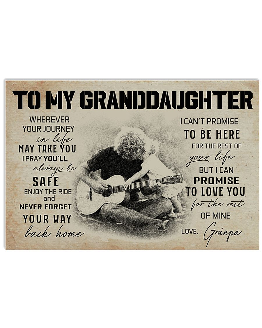3B GUITAR  TO MY GRANDDAUGHTER 17x11 Poster