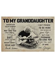 3B GUITAR  TO MY GRANDDAUGHTER 17x11 Poster front
