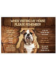 Visit home Bulldog 17x11 Poster thumbnail
