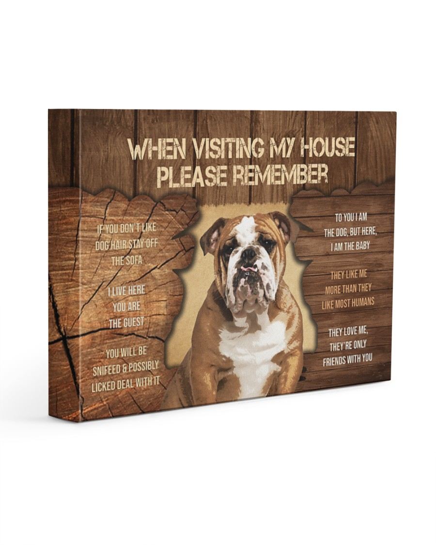 Visit home Bulldog 14x11 Gallery Wrapped Canvas Prints