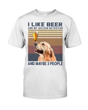 Beer and Golden Retriever Premium Fit Mens Tee thumbnail
