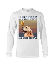 Beer and Golden Retriever Long Sleeve Tee thumbnail