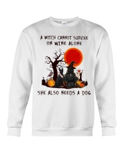 Witch Wine Doberman Pinscher Crewneck Sweatshirt thumbnail