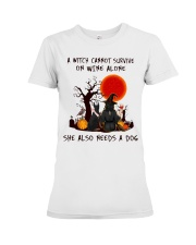 Witch Wine Doberman Pinscher Premium Fit Ladies Tee tile