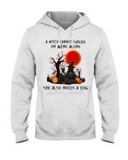 Witch Wine Doberman Pinscher Hooded Sweatshirt thumbnail