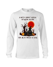 Witch Wine Doberman Pinscher Long Sleeve Tee tile