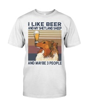 Beer and Shetland Sheep Classic T-Shirt front