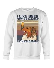 Beer and Shetland Sheep Crewneck Sweatshirt thumbnail