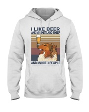 Beer and Shetland Sheep Hooded Sweatshirt thumbnail